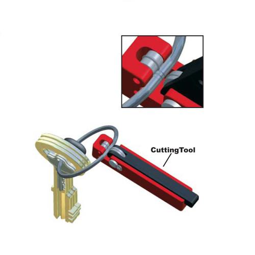 Tamper Proof Key Ring Cutting Tool
