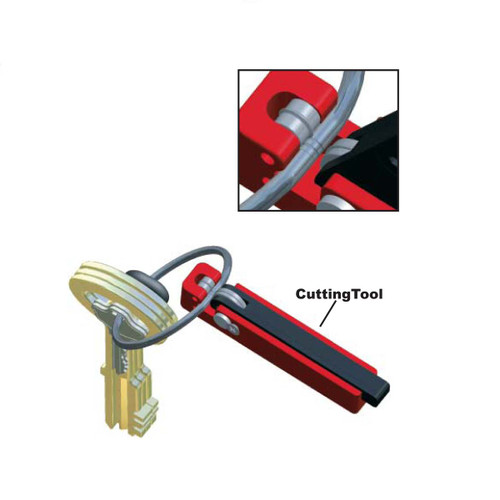 Tamper Proof Key Ring Cutting Tool. Use to cut and destroy stainless steel tamper rings