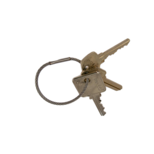 2 Inch Diameter Stainless Steel Crimp Close Permanent Cable Key Ring