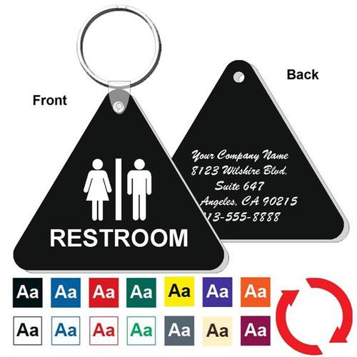 Custom Back Triangle Restroom Keytag
