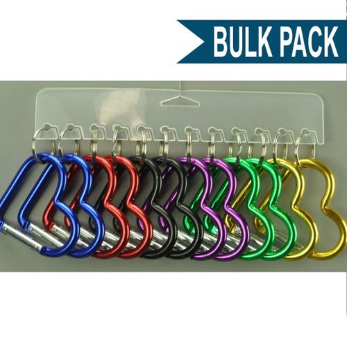 Heart Shape Carabiner Clip Keychain - Bulk Pack