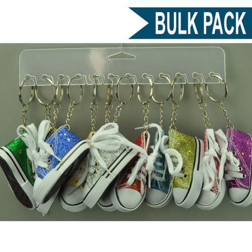 Glitter Sneaker Key Chain - Bulk Pack