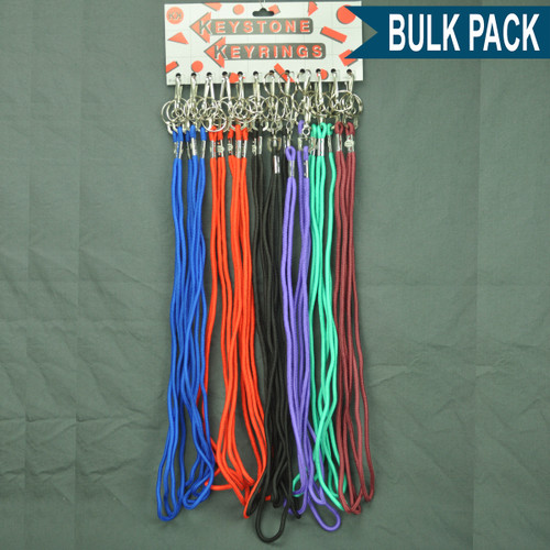 Lanyard Neck String Key Holder with Split Ring - Bulk Pack 24 PACK