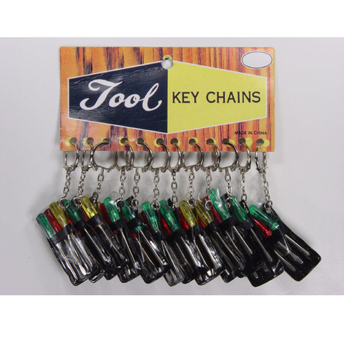 3 Piece Screw Driver Set Key Chains 12 Sets to a Pack