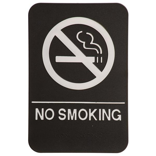 6 Inch x 9 Inch ADA Sign - No Smoking