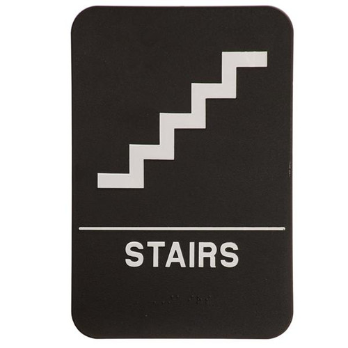 6 Inch x 9 Inch ADA Sign - Stairs