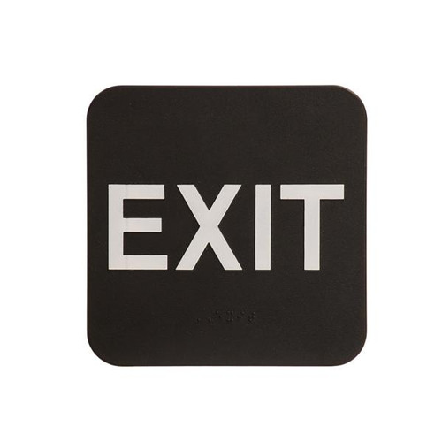 6 Inch x 6 Inch ADA Sign - Exit