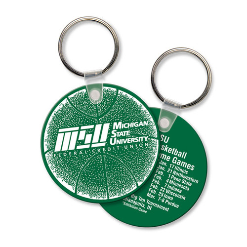 Custom Printed Soft Touch Vinyl Key Ring - Large Round