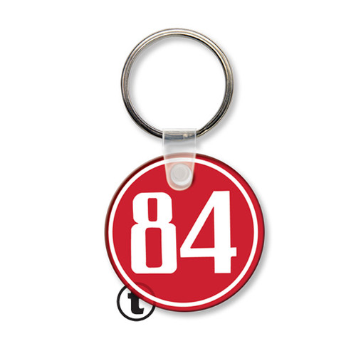 Custom Printed Soft Touch Vinyl Key Ring - Small Round