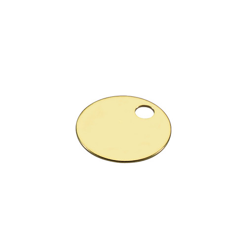 1 Inch Round Solid Brass Key Tag by Lucky Line - Imported