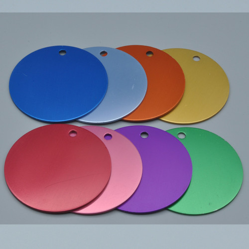 Extra Large Round Aluminum Tag 2 Inch - BLANK