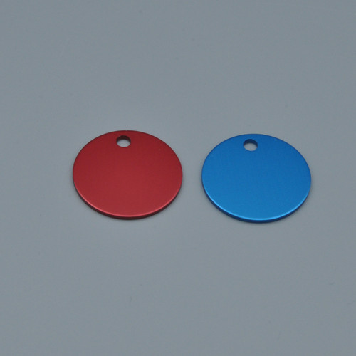 1 Inch Round Aluminum Key Tag - BLANK