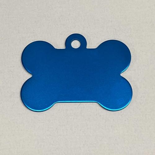 Medium Blue Dog Bone Pet ID Tag