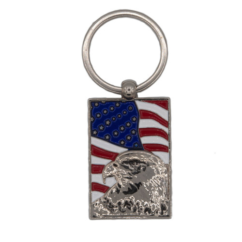 USA Flag with Eagle  Key Chain