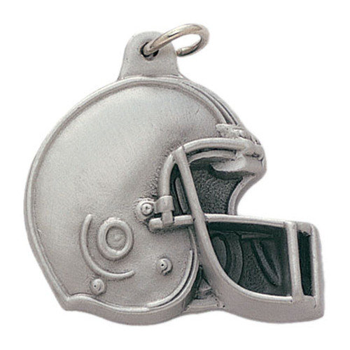Pewter Football Helmet Keyring with Chain