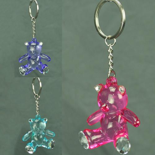 Crystal Teddy Bear Key Chain