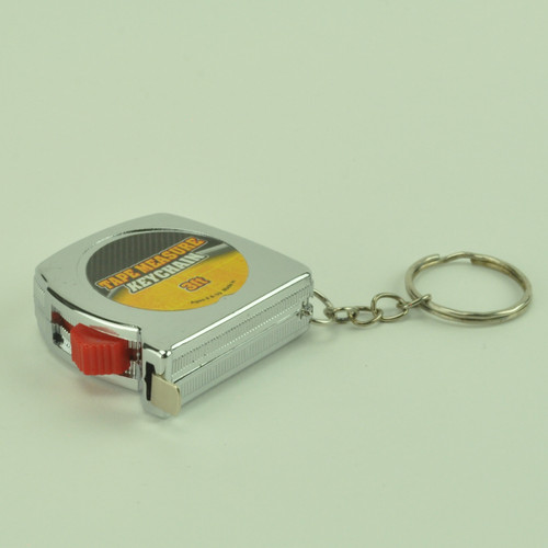 3 Foot Tape Measure Key Chain - Chromed Plastic Case