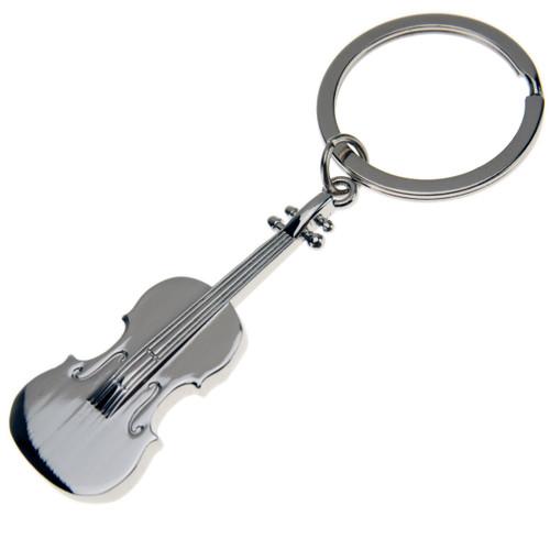 Metal Violin Keychain