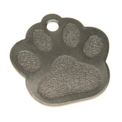 Paw Print Dog Tag Stainless Steel - Blank