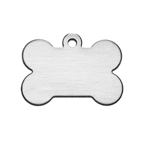 Large Dog Bone Tag Stainless Steel - Blank
