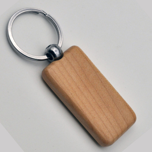 Solid Maple Wood  Rectangle Key Chain