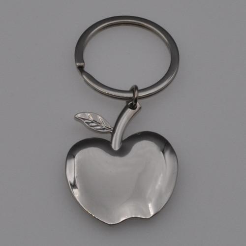 Nickel Plated Apple Key Chain