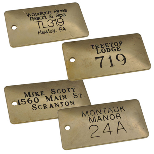Solid Brass Rectangle Tag - CUSTOM ENGRAVED