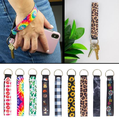 Neoprene Wrist Key Holder Designer Patterns