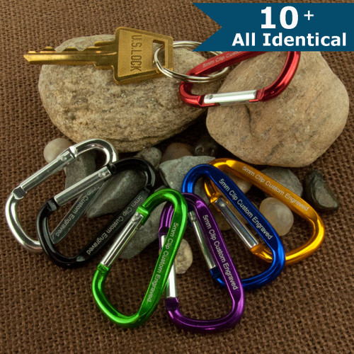 Small Carabiner with Custom Engraving - ALL IDENTICAL
