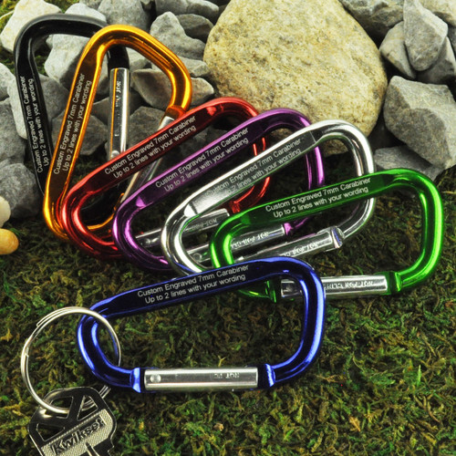 Large Carabiner with Custom Engraving