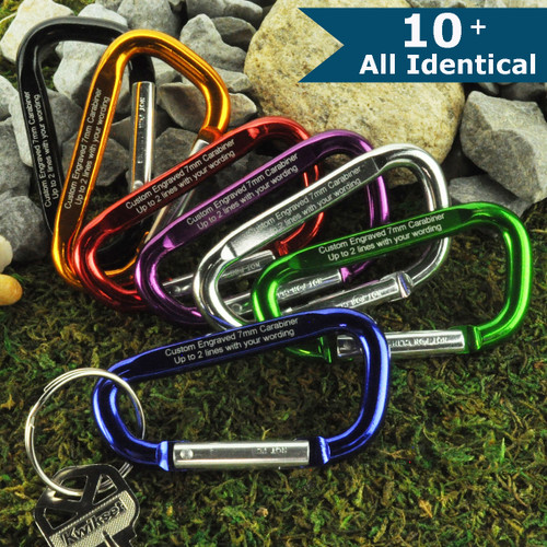 Large Carabiner with Custom Engraving - ALL IDENTICAL