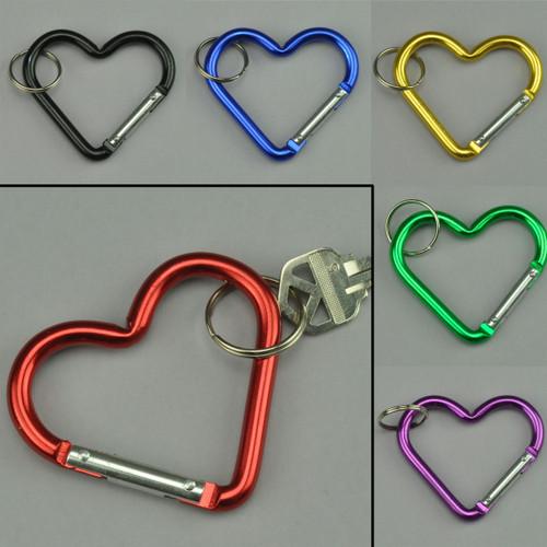 Heart Shape Carabiner Clip Keychain