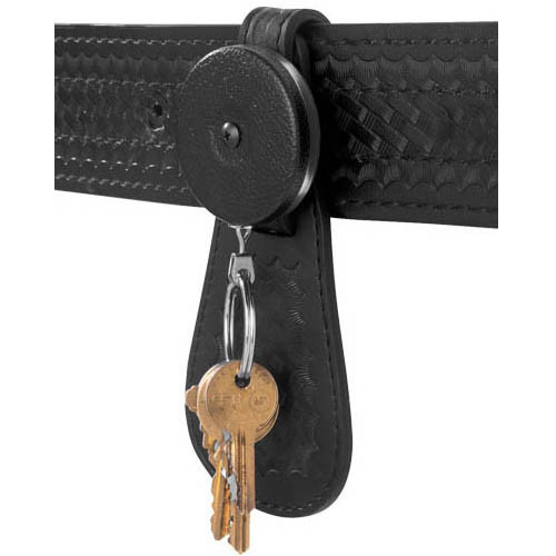 "Key-Bak Key Retractor 24"" Chain with Leather Flap"