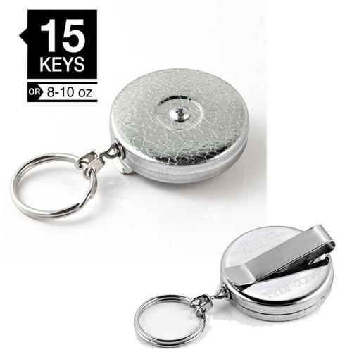 "Key-Bak Model #5 Key Retractor Clip On 24"" Chain CHROME"
