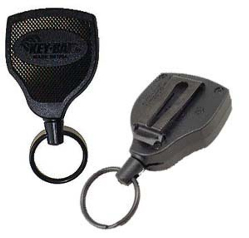 "Key-Bak Super 48 Key Retractor 48"" Kevlar Cord Clip On"