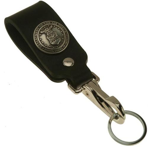 Air Force Logo Wide Leather Belt Strap Key Holder
