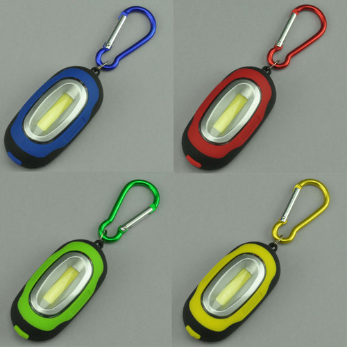 LED Light Chip-on-Board with Carabiner All Colors