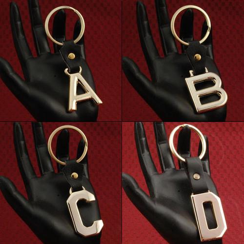 Regency Brass Initial Keychain