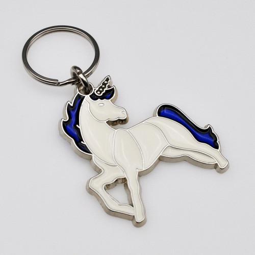 Unicorn Stained Glass Key Chain