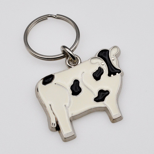 Cow Stained Glass Key Chain