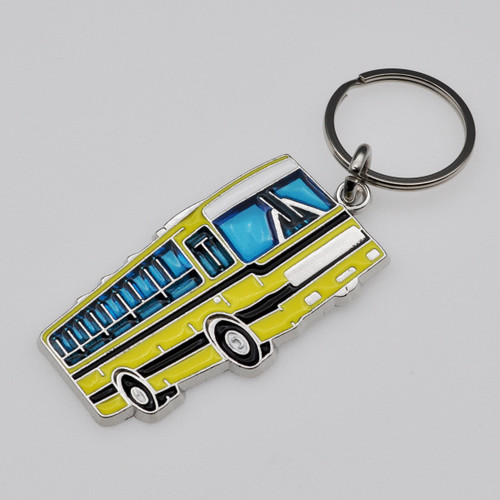 School Bus Stained Glass Key Chain