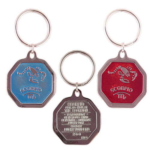 Zodiac Keychain - Color Hexagon Shape