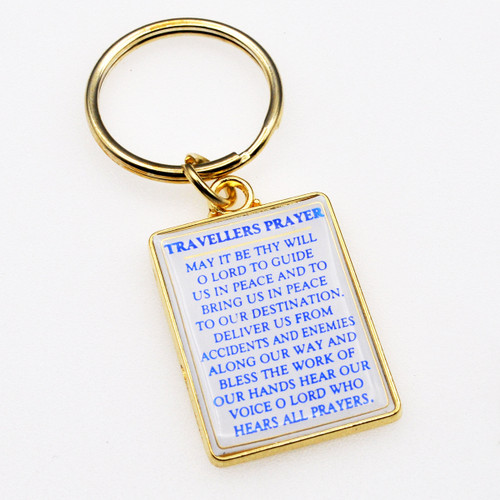 Travelers Prayer Keychain