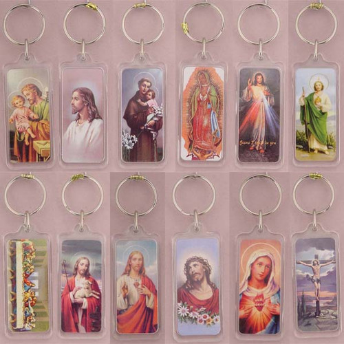 Religious Picture Keychain Acrylic Rectangle Full Set