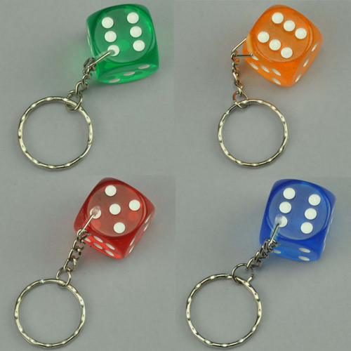 Crystal Dice Key Chain