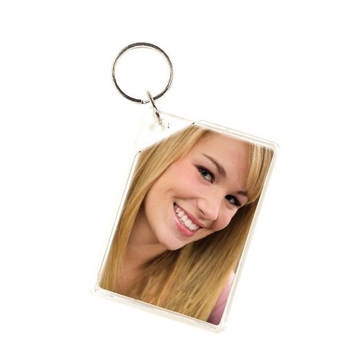 "Small Slip-in Photo Holder Key Chain 2"" x 3"" Insert"