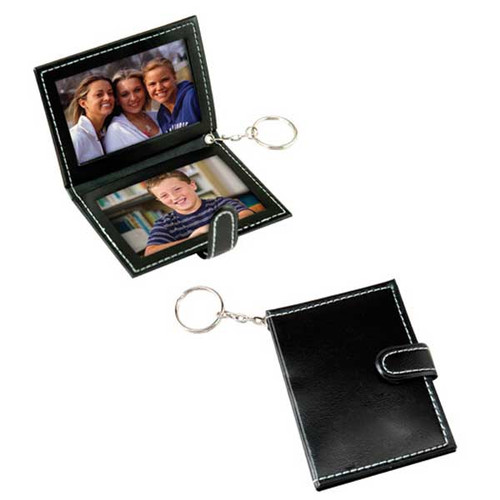Leatherette Slip-in Photo Holder Key Chain