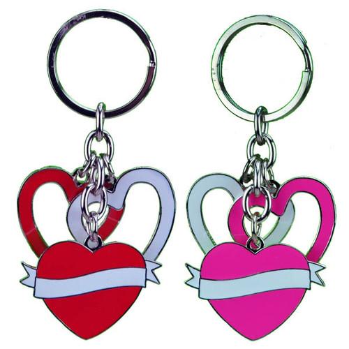 Dangling Hearts Key Chain