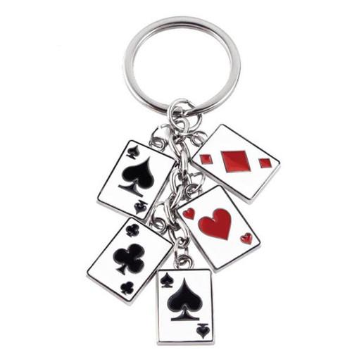 Poker Cards Dangle Keychain