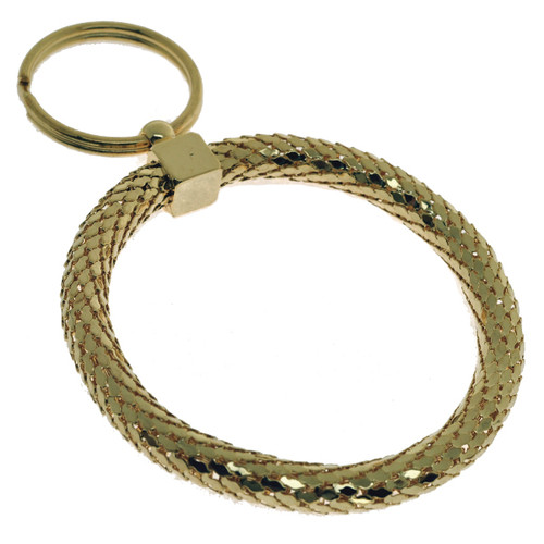 Elegant Circle Gold Color Key Chain